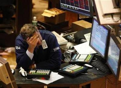 Từ hai tháng trở lại đây, cổ phiếu tài chính, ngân hàng là một trong những lý do chính khiến giới chứng khoán Mỹ đau đầu. Ảnh:img136.imageshack.us