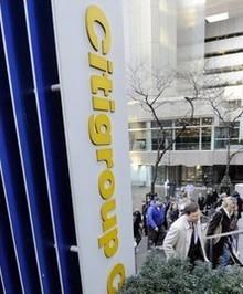 Tập đoàn Citi thiệt hại nặng nề vì khủng hoảng tài chính. Ảnh: AP
