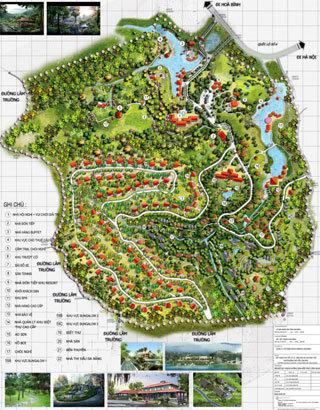 Bản đồ quy hoạch không gian cảnh quan.