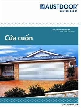 Trang bìa của catalogue về sản phẩm cửa cuốn Austdoor .