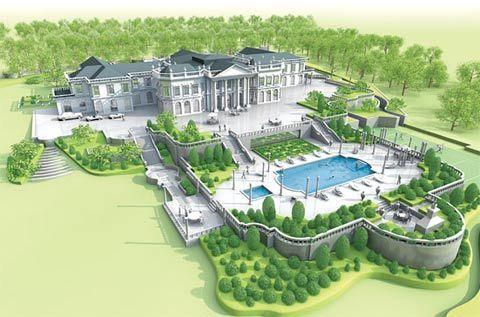 Bản vẽ mô phỏng khu biệt thự sắp xây của vợ chồng triệu phú Kogan đang được lưu truyền trên các trang môi giới bất động sản.