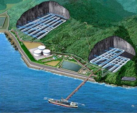Mô hình kho ngầm dự trữ xăng dầu lớn nhất VN.
