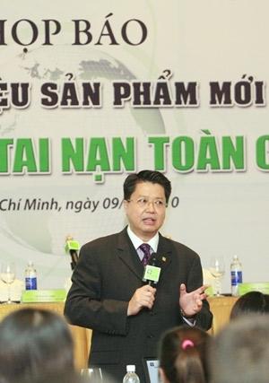 Ông Lâm Hải Tuấn Tổng Giams đốc ACE Life Việt Nam tại buổi họp báo giới thiệu sản phẩm mới.