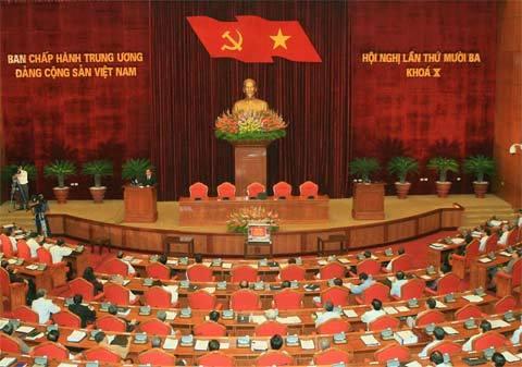 Phiên bế mạc Hội nghị Ban chấp hành Trung ương lần thứ 13. Ảnh: TTXVN