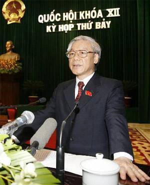 Quốc hội khóa XII sẽ còn kỳ họp cuối vào tháng 3/2011. Ảnh: TTXVN