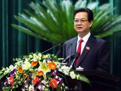 Thủ tướng Nguyễn Tấn Dũng báo cáo trước Quốc hội tình hình kinh tế xã hội 2010 và kế hoạch 2011. Ảnh: Chinhphu.vn