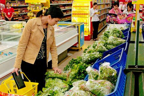 Dịch vụ đi chợ thuê giúp các bà nội trợ tiết kiệm được thời gian đi sắm đồ trong siêu thị. Ảnh minh họa: Hoàng Hà