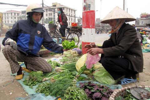 Chợ rau đầu mối chuyển địa điểm khiến những người kinh doanh rau, củ gặp khó vì mất khách quen. Ảnh minh họa: Tuệ Minh