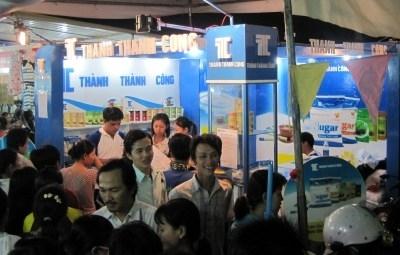 Hội chợ khu công nghiệp Tân Tạo.