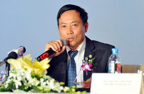 Giám đốc Sở Giao dịch chứng khoán Hà Nội Trần Văn Dũng tại Diễn đàn doanh nghiệp. Ảnh: Nhật Minh