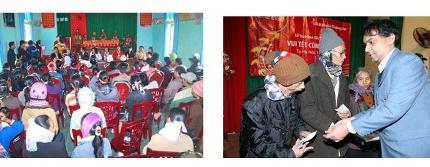 Hơn 700 gia đình nghèo được trao quà trong dịp Tết Tân Mão.