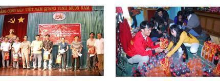 Coca-Cola luôn tích cực trong các hoạt động cộng đồng, chăm lo Tết cho người nghèo.