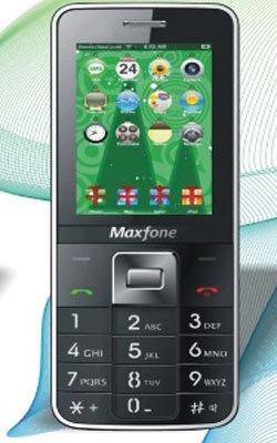 Maxfone E600 thiết kế cong gẫy khúc độc đáo.