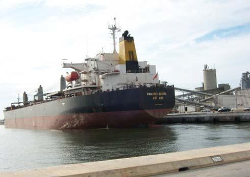 Tàu Vinalines Global là tàu có trọng tải lớn nhất ở Việt Nam hiện nay. Ảnh: Vessel Checker.