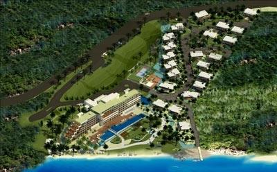 Hình phối cảnh dự án Mercure Sơn Trà Resort.