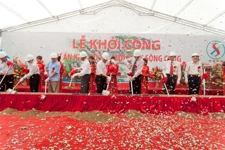 KĐTM đầu tiên của thị xã Sông Công được khởi công xây dựng.