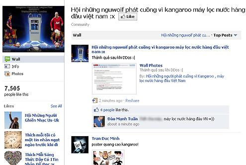 Thành viên một diễn đàn mạng bất bình về quảng cáo của Kangaroo. Ảnh chụp màn hình