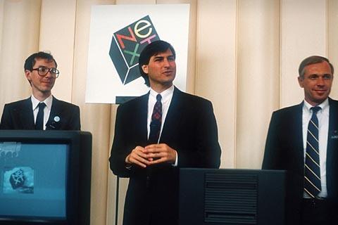 Steve Jobs trong buổi ra mắt công ty NeXT.