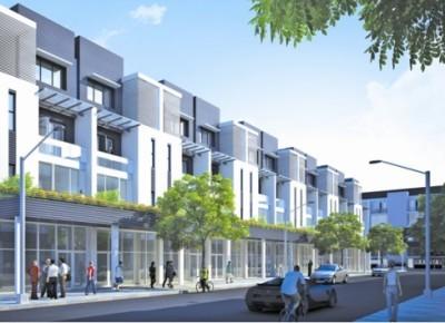 Dãy nhà phố của dự án Đông Đô Đại Phố.