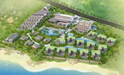 Phối cảnh tổng thể dự án The Cliff Resort & Residence.
