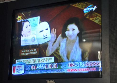 Quảng cáo của Happy Shopping trên truyền hình. Ảnh: Kiên Cường