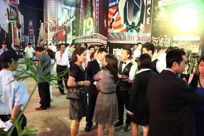 Khu vực mô phỏng Times Square.