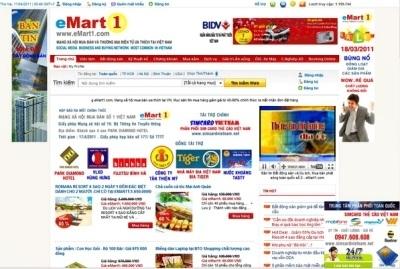Hình ảnh một góc giao diện trang chủ eMart1.com.