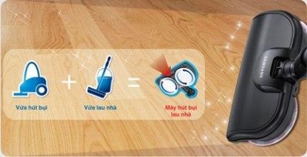 Samsung Smart Duo  Clean tích hợp hai tính năng vừa hút vừa lau tiện lợi.