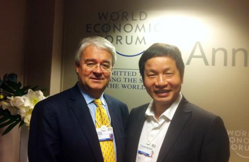 Chủ tịch FPT cho rằng Diễn đàn Kinh tế thế giới là cơ hội cho nhiều ý tưởng mới được nhen nhóm. Ảnh: Nhật Minh