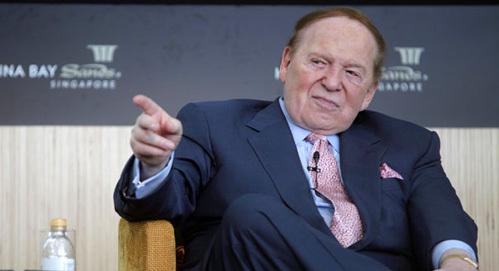 Chủ tịch Las Vegas Sands - Sheldon Adelson. Ảnh: AP