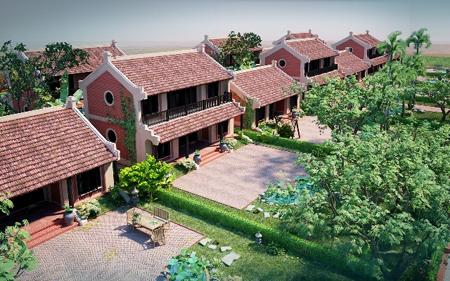 Phối cảnh nhà một tầng và hai tầng trong phân khu Điền Viên Thôn.