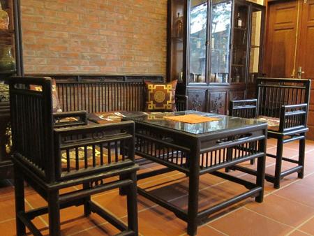 Nội thất được bố trí khéo léo phù hợp với không gian nhà Điền Viên Thôn.