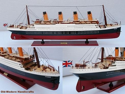 Mô hình tàu Titanic. Ảnh: CBC