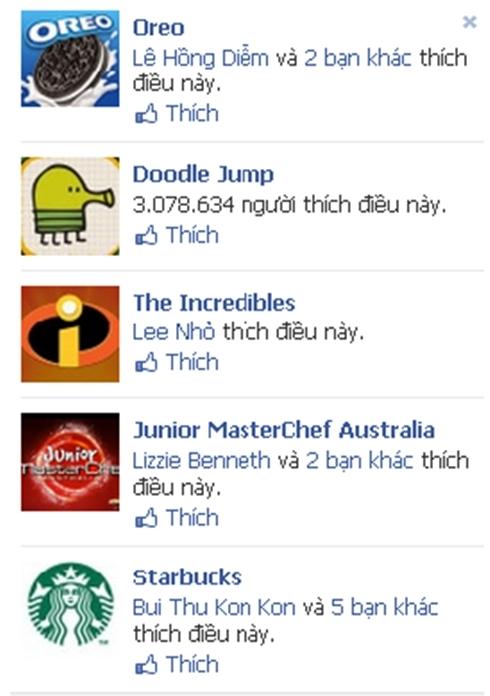 Quảng cáo tương tác trên Facebook.