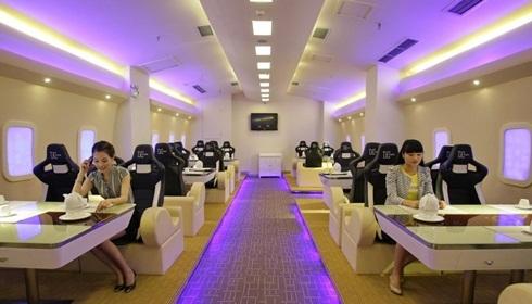 Nội thất nhà hàng này giống hệt chiếc A380. Ảnh: China.org.