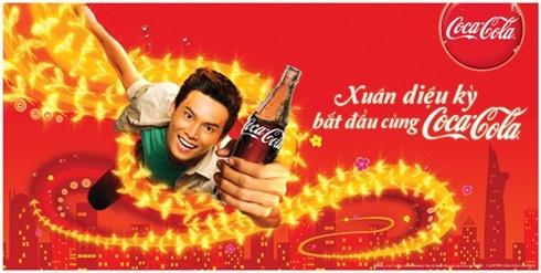 Một quảng cáo của Cocacola trên zing. Ảnh: Zing.vn