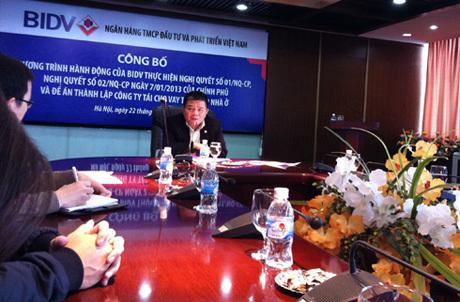 Chủ tịch BIDV tin rằng có thể cho vay mua nhà lãi suất 6% một năm. Ảnh: Thanh Lan.