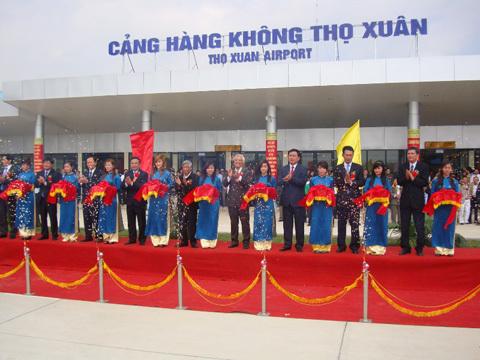 Sân bay Thọ Xuân được khai trương sau khi nâng cấp từ Sân bay quân sự Sao Vàng. Ảnh: Lê Hoàng