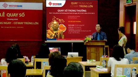 Ông Ngô Ngọc Quang- Phó TGĐ Westernbank đang phát biểu.