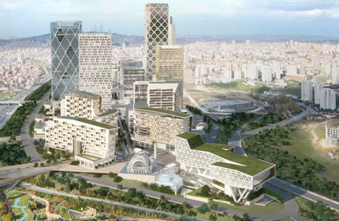 IIFC được xây dựng trên phần thuộc châu Á của Istanbul. Ảnh Business Insider