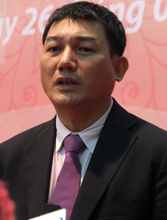 Chủ tịch HĐQT Vietinbank Phạm Huy Hùng. Ảnh: Thanh Lan.