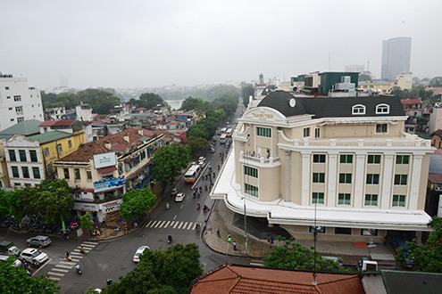 Tràng Tiền Plaza nhìn từ trên cao, trước ngày mở cửa trở lại tháng 3/2013. Ảnh: Anh Tuấn