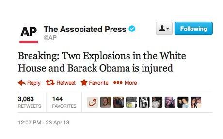 Thông tin giả được đăng trên tài khoản của Twitter. Ảnh: Telegraph