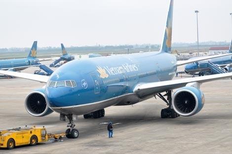 Máy bay Vietnam Airlines hạ cánh khẩn cấp vì sự cố. Ảnh minh họa: Anh Quân