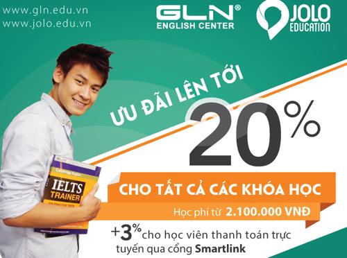 GLN ưu đãi cho học viên thanh toán qua cổng Smartlink
