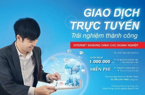Khách hàng doanh nghiệp sử dụng dịch vụ Internet Banking của VietinBank có cơ hội được nhận nhiều ưu đãi lớn từ nay đến hết 6/10.