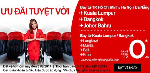 Đây là đợt ưu đãi thứ 3 trong năm, áp dụng cho lịch bay khởi hành từ ngày 1/3 tới 24/10/2015.