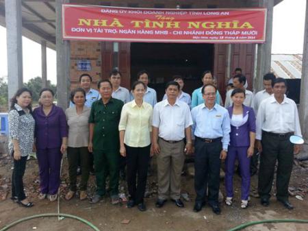 Hoạt động thực hiện Nghị quyết của tỉnh ủy Long An, Đảng ủy khối doanh nghiệp tỉnh về công tác đền ơn, đáp nghĩa và an sinh, xã hội năm 2014.