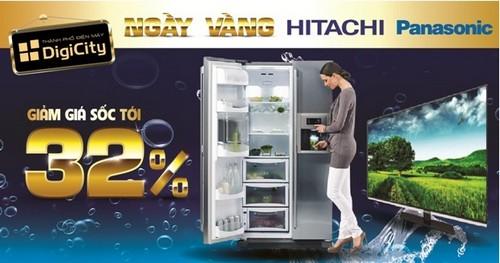 DigiCity ưu ái trợ giá cho hai thương hiệu được yêu thích là Hitachi & Panasonic với nhiều sản phẩm điện máy, gia dụng chất lượng cao với mức giảm giá 32%.Chi tiếtchương trình xem tại đây:
