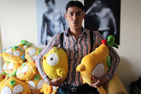 Chàng diễn viên Huy Khánh cũng yêu thích diễn viên củ hành bông.